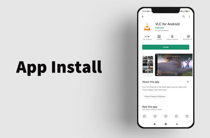 how to install app guide in hindi