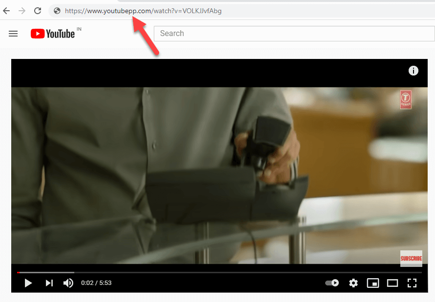 Add pp in youtube url to download the youtube video